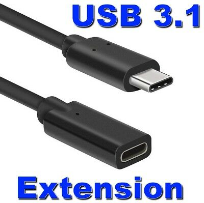 AU7.49 • Buy USB 3.1 Type C Extension Charging Data Cable Male To Female Cord Lead Adapter