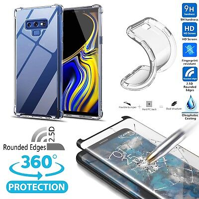$ CDN6.64 • Buy For Samsung Galaxy Note 9/8 Clear Soft TPU Case+Tempered Glass Screen Protector