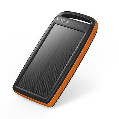 AU42.38 • Buy Solar Charger RAVPower 20000mAh Outdoor Portable Charger Solar Power Bank Dual