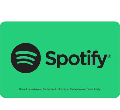 AU72 • Buy Spotify Gift Card 1, 3 Or 6 Month Subscription - Email Delivery