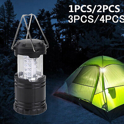 30 LED Portable Camping Torch Battery Operated Lantern Night Light Tent Lamp New • 5.99£