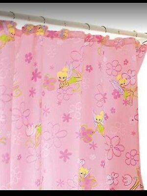 New Disney Store Tinkerbell Pink Shower Curtain O 3499