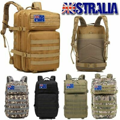 AU30.99 • Buy 45L Camping Hiking Bag Army Military Tactical Backpack Rucksack Sport Travel
