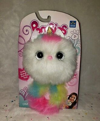 $ CDN32.41 • Buy NEW POMSIES UNICORN EXCLUSIVE LUNA Toy INTERACTIVE LOVABLE WEARABLE POM-POM PETS