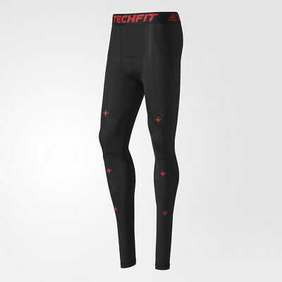 £43.15 • Buy Adidas Techfit Recovery Long Tights AY9087 Compression Black Red Legs Pants Men