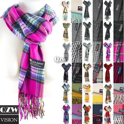 $6.49 • Buy Womens Mens Winter Warm Soft 100% Cashmere Scarf Scotland Made Scarves Wrap Wool