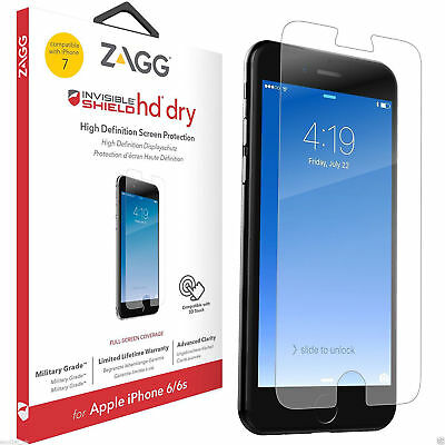 ZAGG InvisibleSHIELD IPhone XS X 8 7 6S 6 Plus 5S 5 SE HD Dry Screen Protector • 7.95£