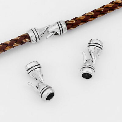5Sets Tibetan Silver Hook Clasp For 5mm Round Leather Jewellery Bracelet Making • 2.99£