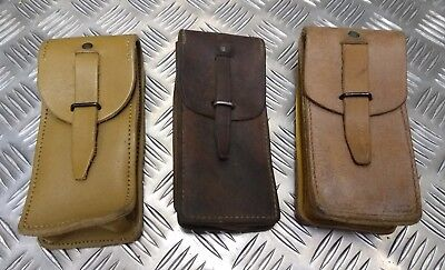 Genuine Vintage Military Issues Small Leather Ammo / Utility Belt Pouch  • 12.99£
