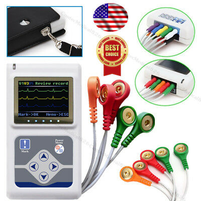 £232.27 • Buy CE Newest ECG Holter 24 Hours Dynamic EKG Holter 3 Channel 12 Leads Software USB