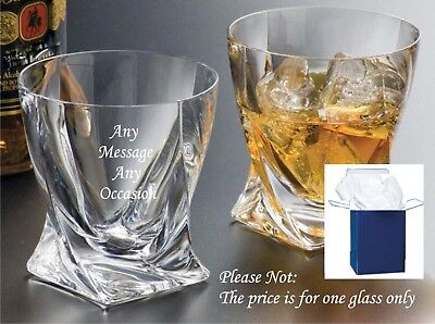 £12.95 • Buy Personalised Engraved Whisky Glass Birthday Gifts 60th 65th 70th 80th Gift Boxed