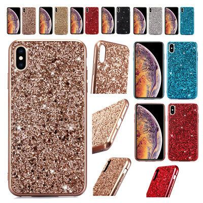 AU16.55 • Buy For IPhone 12Pro XR XS Max 7 8 Plus Shockproof Bling Glitter TPU Back Cover Case