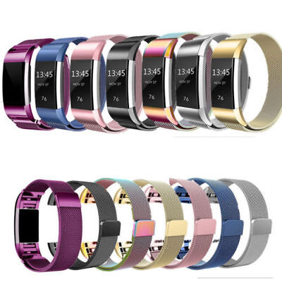 AU11.30 • Buy For Fitbit Charge 2 Band Metal Stainless Steel Milanese Loop Wristband Strap AUS