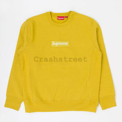 $ CDN1184.06 • Buy Supreme FW18 Box Logo Crewneck Split Hooded Long Sleeve Sweatshirt Mustard Gold