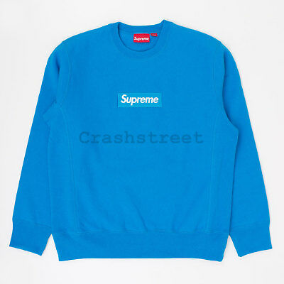 $ CDN1184.06 • Buy Supreme FW18 Box Logo Crewneck Split Hooded Long Sleeve Sweatshirt Light Blue