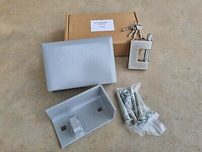 AU89 • Buy Shipping Container Lock Box & Pad Lock SET, Slim Line, Postage Incl. Top Quality
