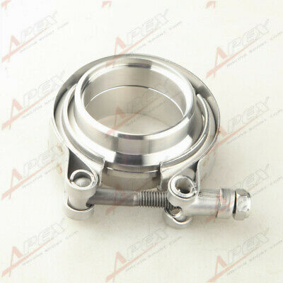 $ CDN24.78 • Buy 2  Inch Self Aligning Male/Female V-Band Vband Clamp Stainless Steel Flange Kit