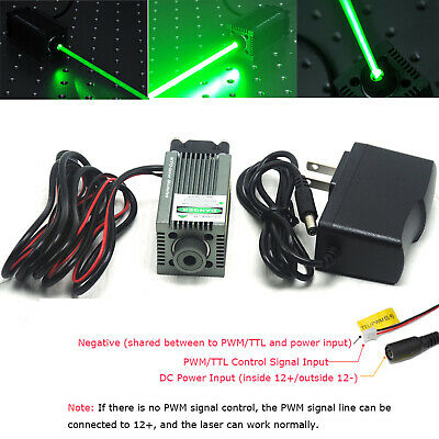 AU219.63 • Buy Focusable 520nm 1W 1000mW DOT Green Laser Diode Module Engraving And Cutting TTL