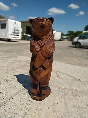 Great Christmas Gift Idea Chainsaw Carving Elm Bear  Wooden Garden Home Wood  • 400£