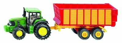 Siku John Deere Tractor With Silage Trailer 1:87 • 12.69£