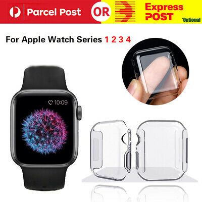 AU4.99 • Buy Full Cover TPU Case IWatch Screen Protector For Apple Watch Series 4 3/ 2 / 1 AU