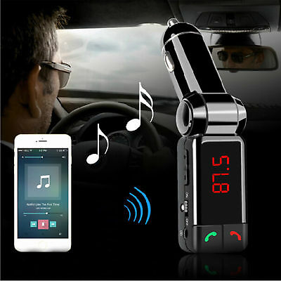 Wireless Bluetooth Car Kit FM Transmitter MP3 USB LCD Handsfree For Mobile Phone • 7.71£