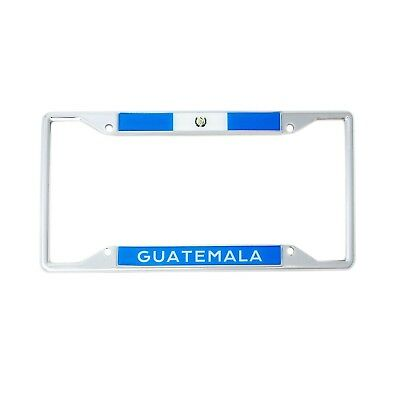 Chrome License Plate Frame CURSIVE Guatemala Auto Accessory 1333