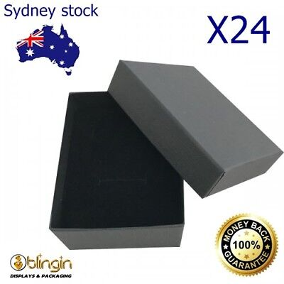 AU39.99 • Buy X24 Premium Earring Ring & Necklace Pendent Set Jewellery Gift Boxes 65X85X35mm