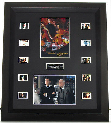 The World Is Not Enough  James Bond 007  Framed Film Cell Mount • 37.50£