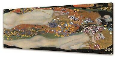 $ CDN33.72 • Buy Water Serpents Gustav Klimt Canvas Picture Print Wall Art Free Fast Delivery