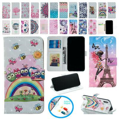 AU17.99 • Buy For IPhone 5S 6 7 8+ XS Max XR Hot Pattern Magnet Leather Wallet Flip Cover Case