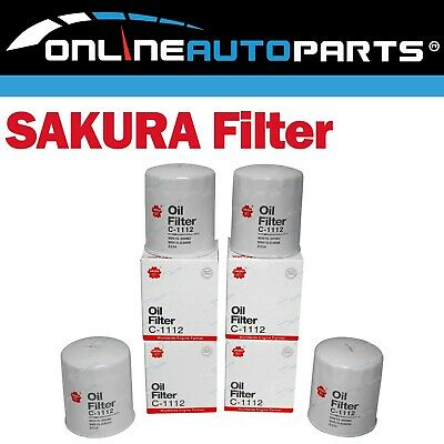 AU46.15 • Buy 4 Diesel Oil Filters LH Hiace Van 2000-04 3.0L 5L Engine LH162 LH172 LH184 =Z334