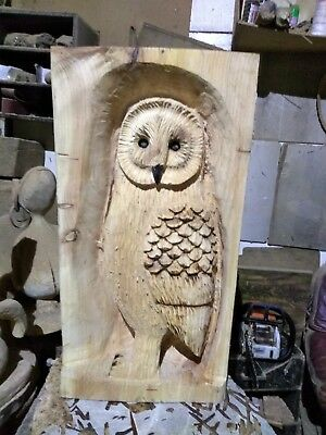 Sussex Chainsaw Carving  Owl Great Gift Idea Wooden Garden Home Xmas • 100£