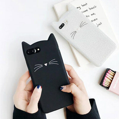 £3.95 • Buy Cute Cartoon Cat Ear Case For IPhone XS 6 7 8 5S Soft Silicone Rubber Slim Cover