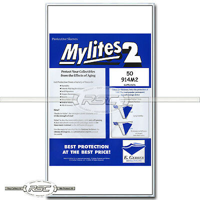 $30.95 • Buy 50 - Mylites 2 Legal For Graded Comics (CGC, CBCS, PGX) 2-Mil Mylar Bags - 914M2