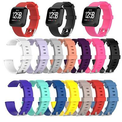 $ CDN4.59 • Buy Replacement Sport Soft Silicone Watchband Strap Band For Fitbit Versa Smartwatch