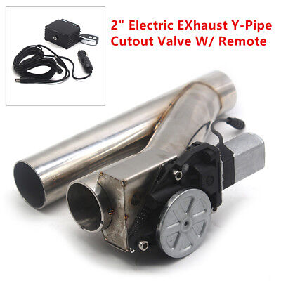 $ CDN164.26 • Buy 2inch Motorized Electric Exhaust Cutoff Bypass Valve Cutout+Remote Universal Set