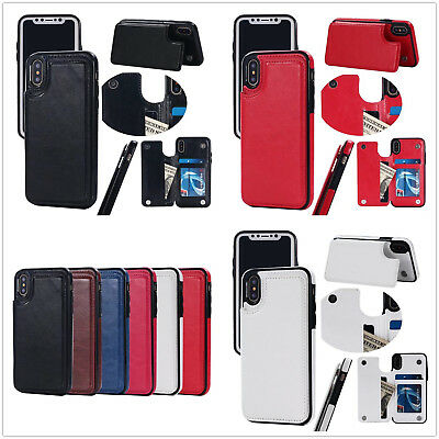 AU11.53 • Buy 6 Color Hybrid TPU & Leather Case With Card Holder Fr Iphone 8 8P Samsung S8 S8P