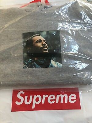 $ CDN279.21 • Buy Supreme Marvin Gaye Hoodie Heather Grey Size Small CONFIRMED SOLD OUT