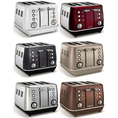 AU109 • Buy Morphy Richards 1880W Evoke Stainless Steel 4 Slice Toaster W Removable Tray