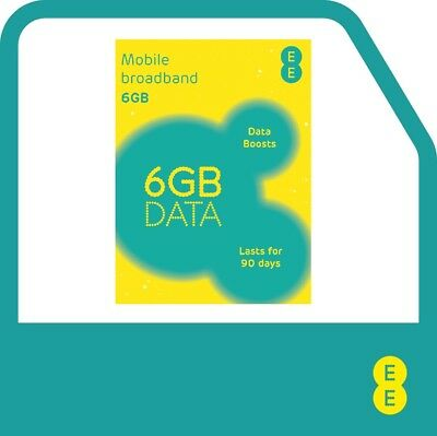 £15.99 • Buy EE PAYG 4G Data Sim Preloaded With 6GB Data Lasts For Up To 90 DAYS