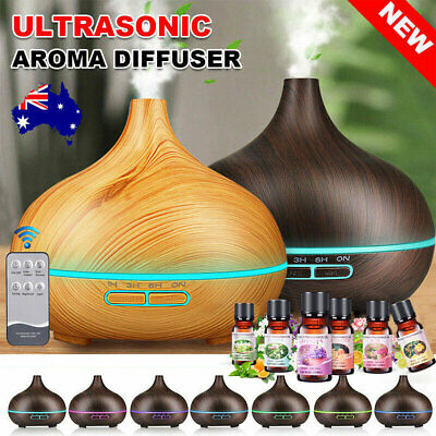 AU13.99 • Buy LED 550ml Air Humidifier Purifier Essential Oil Aroma Diffuser Aromatherapy Lamp