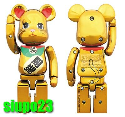 $239.99 • Buy Medicom 200% Bearbrick ~ Bandai Chogokin Be@rbrick Maneki Neko Lucky Cat Gold #3