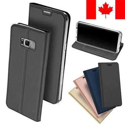 $ CDN9.99 • Buy Slim Leather Flip Wallet Card Holder Case For Samsung Galaxy S8