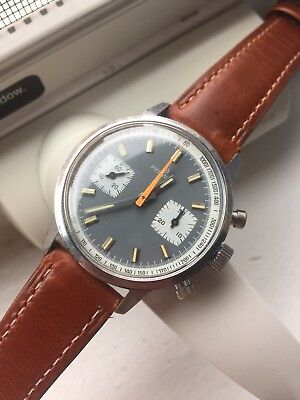 $ CDN2000.09 • Buy Vintage Premira Chronograph Valjoux 7733 Exotic Dial Watch