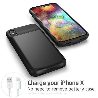 AU64.59 • Buy Power Bank Portable Wireless Charger Battery Mobile Case For Iphone X XR/X S MAX