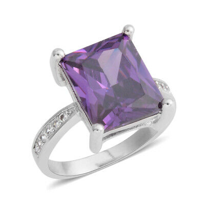 View Details New Amethyst Cubic Zirconia White Cubic Zirconia Ring Cttw 5.3 • 9.78$