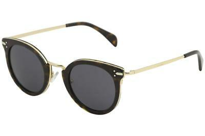 61dca67cd67c5 Celine CL 41373S 41373 S ANT IR Dark Havana Gold Fashion Round Sunglasses