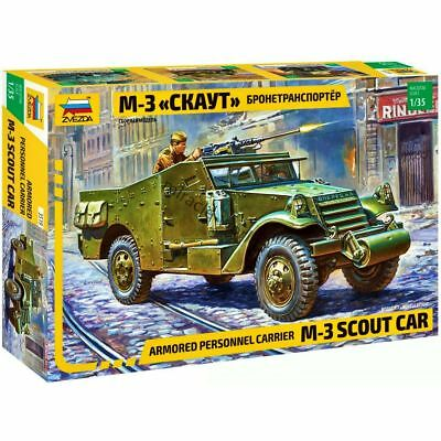 $11.95 • Buy Zvezda 3519 M3 Scout Car /US, UK, Soviet Armored Personel Carrier/ 1/35