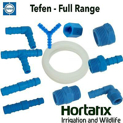 Tefen Nylon Pipe Fittings Plastic Barbed Pipe Joiner Connectors 14 Bar Pressure • 2.45£